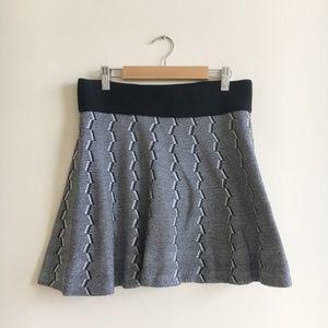 Aritzia Talula Striped Geometric Mini Skirt